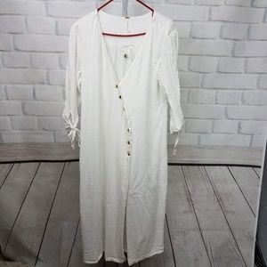 Free people Button up Duster SZ M NWOT
